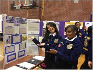 """John Bowne students show off their research on """"Organic Versus Inorganic Feed"""""""