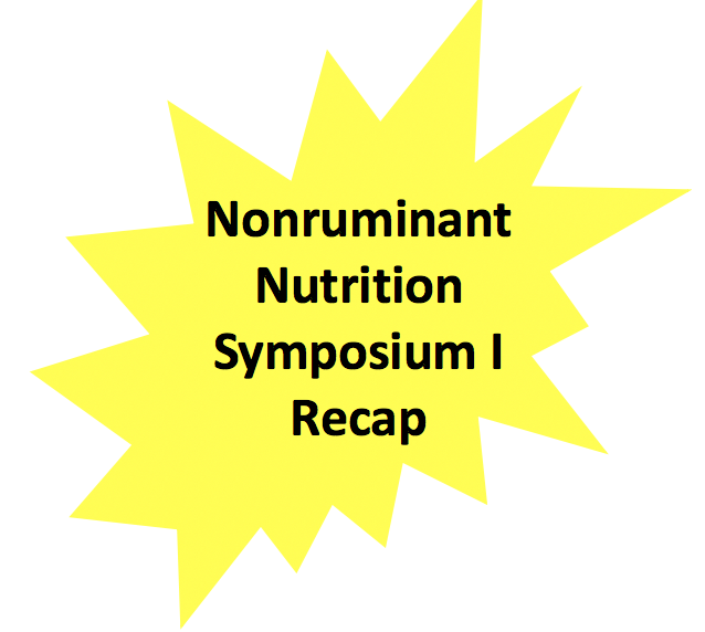 nonruminant nutrition symposium